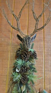 Natural Winter Deer Head