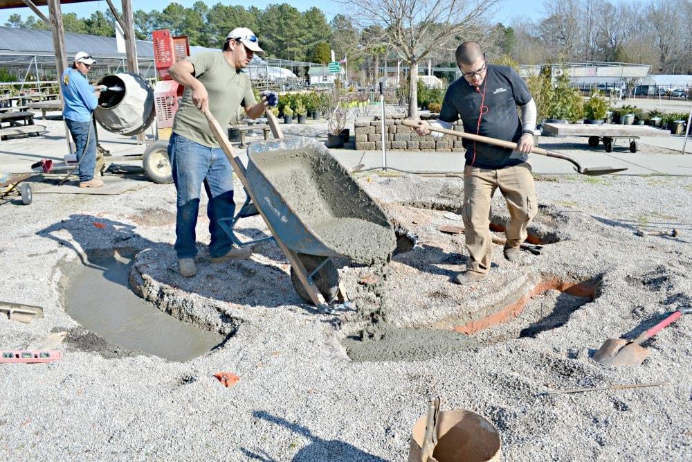 arbor enterprises pour concrete